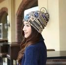 特價售出 2016韓版新款國旗純棉月子帽多用堆堆帽套頭帽