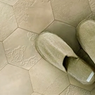1米起訂 六角形磚紋 地板卷材 客廳 日本地板材/HM-4119