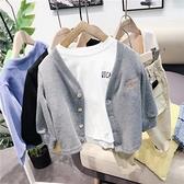 男童外套 男童繡花開衫棉春款兒童針織外套寶寶衛衣外套-Milano米蘭