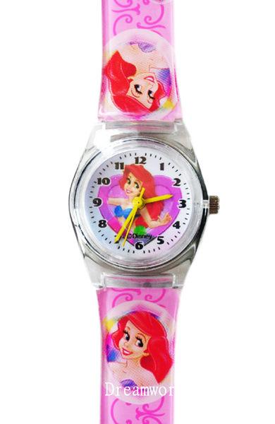 【卡漫城】 小美人魚 M 膠錶 粉 ㊣版 台灣製 Ariel 愛麗兒 Mermaid 迪士尼 手錶 兒童錶 卡通錶 女錶