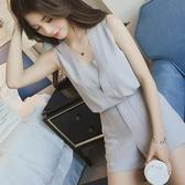 套裝夏裝新款很仙網紅法式小眾洋氣女神俏皮闊腿短褲上衣兩件套裝 可然精品