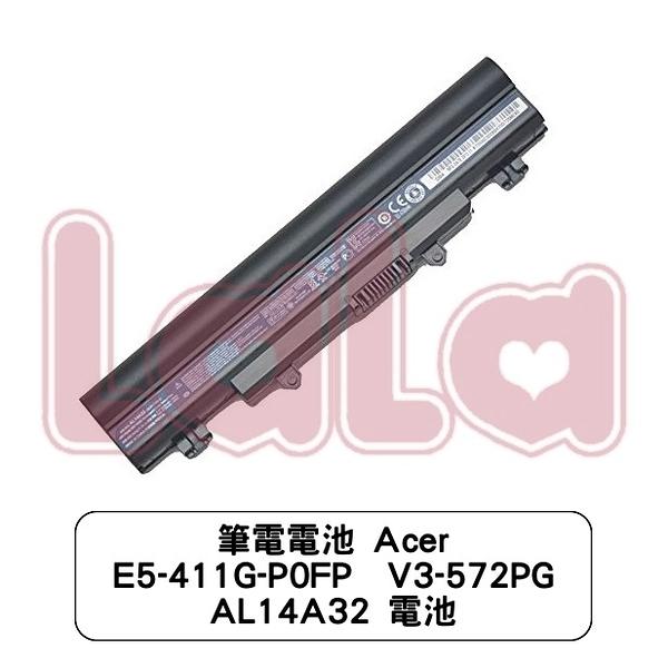筆電電池 Acer E5-411G-P0FP  V3-572PG AL14A32 電池