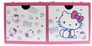 【震撼精品百貨】Hello Kitty 凱蒂貓~HELLO KITTY 多多積木雙抽收納盒