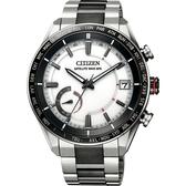 CITIZEN 星辰 限量GPS光動能衛星對時鈦金屬手錶 CC3085-51A