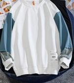 2020新款長袖t恤男韓版潮流寬松打底衫薄款衛衣ins秋季情侶上衣服 艾麗花園