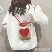 斜背包小包包新款棉麻印花手提小挎包時尚個性百搭單肩斜挎女包 快意購物網