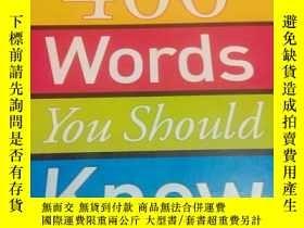二手書博民逛書店400罕見WORDS YOU SHOULD KNOW 400個詞你應該知道Y3701 KEY WORDS FA