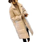 羽絨夾克-白鴨絨-立領羊羔毛大口袋過膝女外套2色73zc26【時尚巴黎】