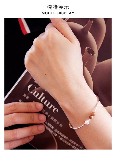 【富山香堂】LOVE 檀愛之戀- 心@靈犀銀飾檀珠手鍊(情人節 老山檀 施華洛世奇) //檀香珠//飾品//禮品