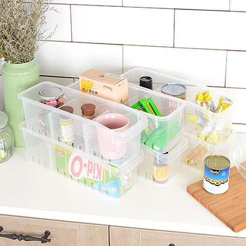 【nicegoods】巧盈瓶罐冰箱收納盒-附隔板 (6入組)(塑膠 分格盒 置物盒)