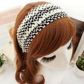 UNICO 韓版 時尚波西米亞風 黑白亮片髮箍