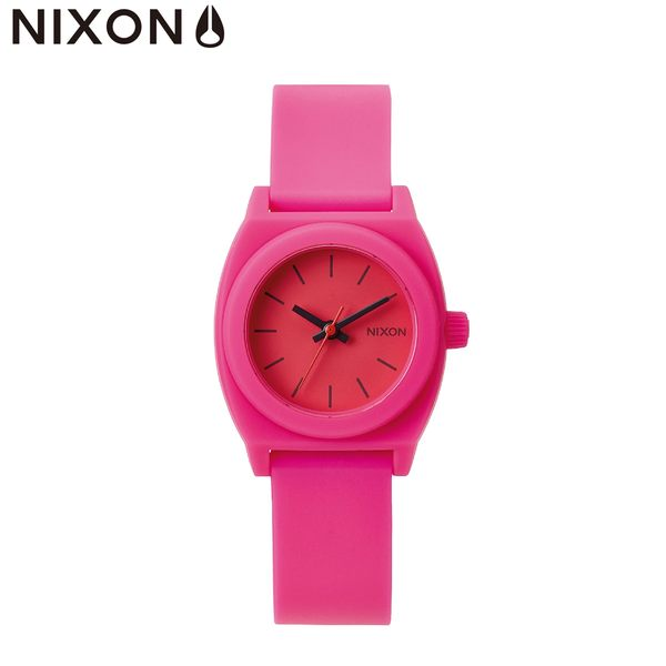 NIXON手錶 原廠總代理 A425-221 The samll time teller p桃紅色 潮流時尚膠錶帶 男女 運動 生日 情人節禮物