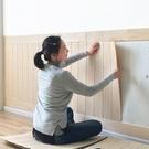 3D木紋貼紙立體墻貼自粘墻裙墻板壁紙客廳墻紙防水墻圍裝飾臥室 js2060『科炫3C』