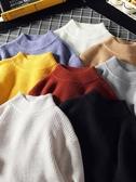 毛衣男 秋冬季新款毛衣男士正韓潮流個性針織衫寬鬆慵懶風半高領線衣【免運直出】