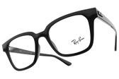 RayBan 光學眼鏡RB4323VF 2000 (黑) 經典有型粗框款 平光鏡框 # 金橘眼鏡