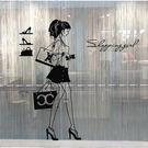 購物女孩服裝店裝飾品貼紙櫥窗人物墻貼玻璃...