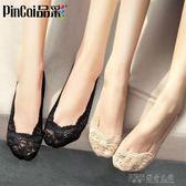 蕾絲襪子淺口船襪女韓國可愛隱形春夏季薄款低筒純棉硅膠防滑短襪 探索先鋒