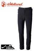 【Wildland 荒野 男 彈性直筒保暖褲《黑》】0A72320/雪褲/運動褲/休閒褲/登山