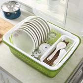 廚房大號塑料帶蓋碗碟置物架收納架碗碟架碗碟整理瀝水碗櫃 魔方數碼館WD