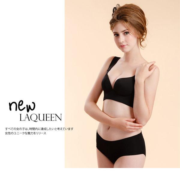 LaQueen 素面機能排汗無痕內衣組(9256 黑)