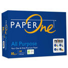 買就送7-11禮券100元【PAPER ONE】All Purpose 80P A4 (藍包)多功能影印紙 (二箱)