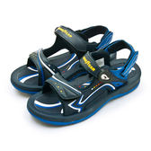 LIKA夢 GOODYEAR 固特異專業戶外踏青越野沙灘磁扣運動涼鞋 曙光系列 藍 93616 男