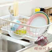 廚房放碗架瀝水架塑料收納架碗筷收納盒置物架【櫻田川島】