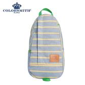 【COLORSMITH】PU・蛋型後背包-藍色橫條紋・PU1326-GL