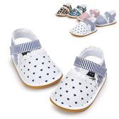 童裝 童鞋 蕾絲滾邊涼鞋 兒童鞋 學步鞋 防滑點膠 嬰兒鞋 室內鞋 0~24M 橘魔法 寶寶鞋