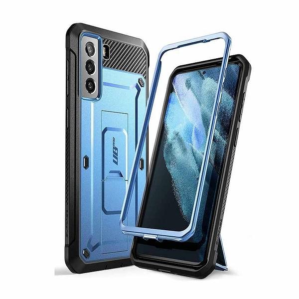 SUPCASE Unicorn Beetle Pro 手機保護殼 適用Galaxy S21 Plus 5G 黑/藍 [2美國直購]