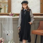 東京著衣【YOCO】日系甜心假二件式拼接魚尾洋裝-S.M.L(172894)