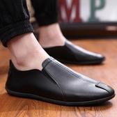 韓版百搭個性豆豆鞋男士輕便休閒皮鞋單鞋潮流懶人鞋 黛尼時尚精品