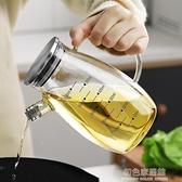加厚帶刻度高硼硅玻璃油壺歐式防漏油瓶家用廚房裝油瓶醬油瓶油罐 NMS初色家居館