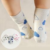 兒童防滑襪 童襪 止滑襪 韓國星月雲朵棉質止滑短襪