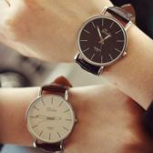 韓國簡約韓版時尚休閒流行男錶對錶女錶學生文青手錶皮帶手表[W035]