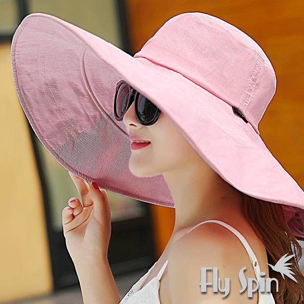 防曬帽子-女款可定形超大帽簷和摺疊遮陽淑女漁夫帽13SS-S058 FLY SPIN