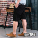 【7328】修身迷彩點綴伸縮休閒短褲(黑色)● 樂活衣庫