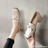 樂福鞋 復古樂福鞋女2021新款春季真皮中跟英倫小皮鞋一腳蹬懶人粗跟單鞋 開春特惠