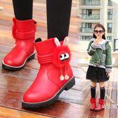 短靴2018新款韓版童鞋女童靴子秋冬短靴加絨兒童馬丁靴中大童寶寶棉靴【購物節再續 最後一天】