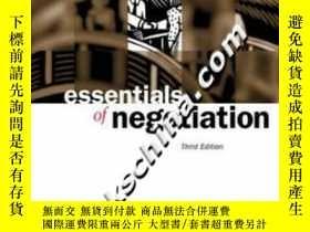 二手書博民逛書店essentials罕見of negotiation Third