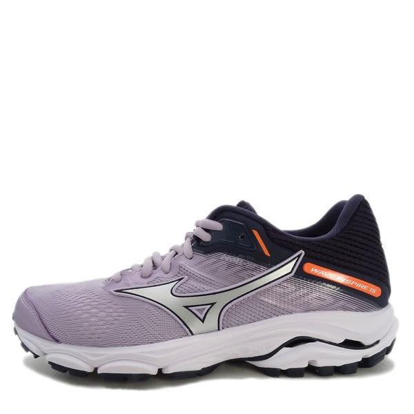 Mizuno Wave Inspire 15 J1GD194404 女鞋 運動 慢跑 路跑 馬拉松 避震 美津濃 紫白