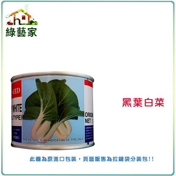 【綠藝家】A70.黑葉白菜種子1000顆(日本進口)
