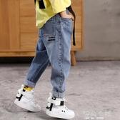 男童褲子牛仔褲春秋中大童休閒褲洋氣長褲男孩寬鬆潮春夏 海角七號