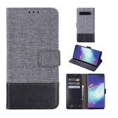 三星Galaxy S10 Plus 掀蓋磁扣手機套 手機殼 皮夾手機套 側翻可立 外磁扣皮套 保護套 翻蓋 S10e S10+