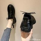 牛津鞋 英倫風小皮鞋女2020秋季新款學生百搭日系平底單鞋子黑色復古女鞋 618購物節