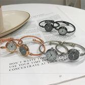 別樣ins手錶女學生手鐲手錬式韓版簡約文藝氣質細帶復古小巧錶盤     米娜小鋪
