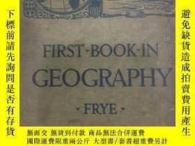 二手書博民逛書店FRIST罕見BOOK IN GEOGRAPHY 第一本地理書