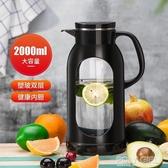 冷水壺玻璃耐熱高溫防爆水瓶家用大容量涼白開水杯茶壺防摔涼水壺 polygirl