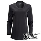 PolarStar 女 圓領排汗 保暖衣 | 發熱衣 『黑』P15216
