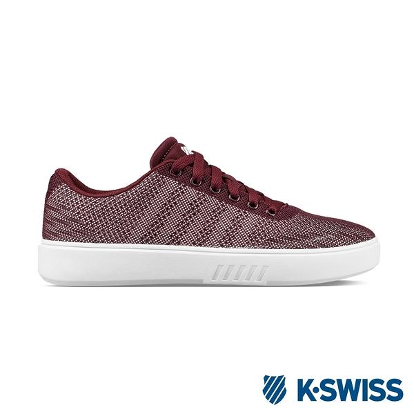 K-SWISS Court Addison NT時尚運動鞋-女-酒紅